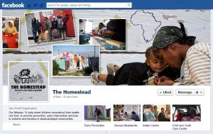 Layout Facebook fan page for The Homestead